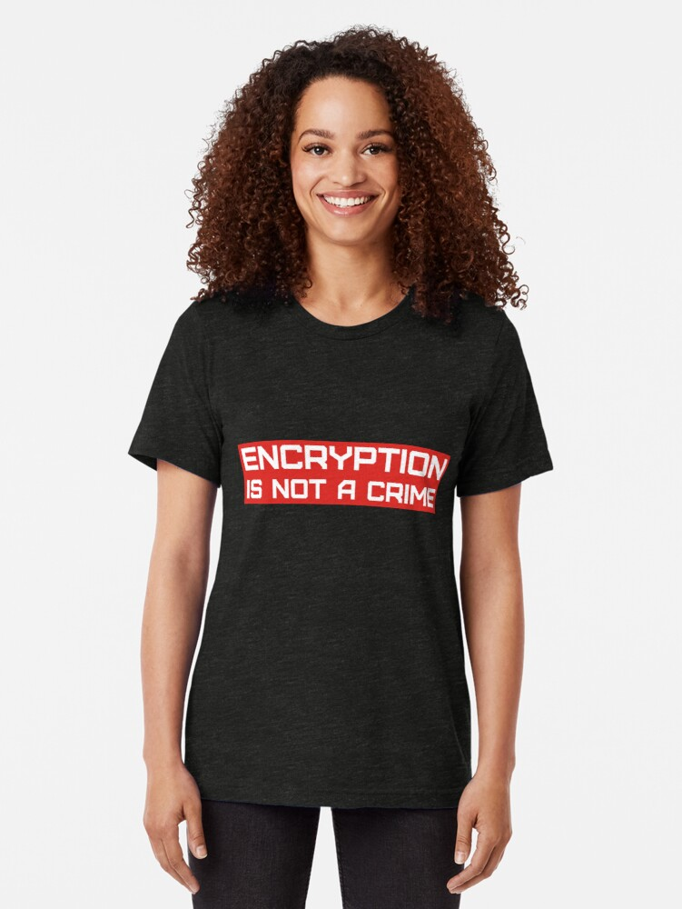 Alternative Ansicht von Verschlüsselung ist kein Verbrechen. Vintage T-Shirt
