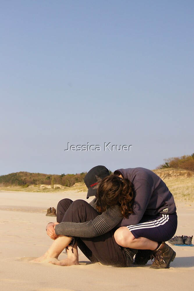 Lovers on the Beach by Jessica Kruer