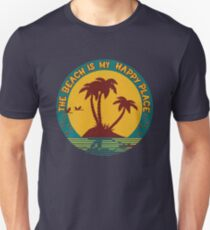 The beach is my happy place tee shirt T-Shirt