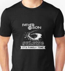 Father And Son, Surfing - Funny Family T-shirt Unisex T-Shirt