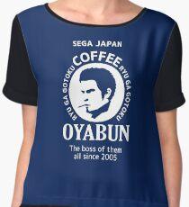 Oyabun Coffee Chiffon Top