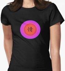 Chinese Character for Passion - Qing Women's Fitted T-Shirt