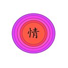 Chinese Character for Passion - Qing by camzhu