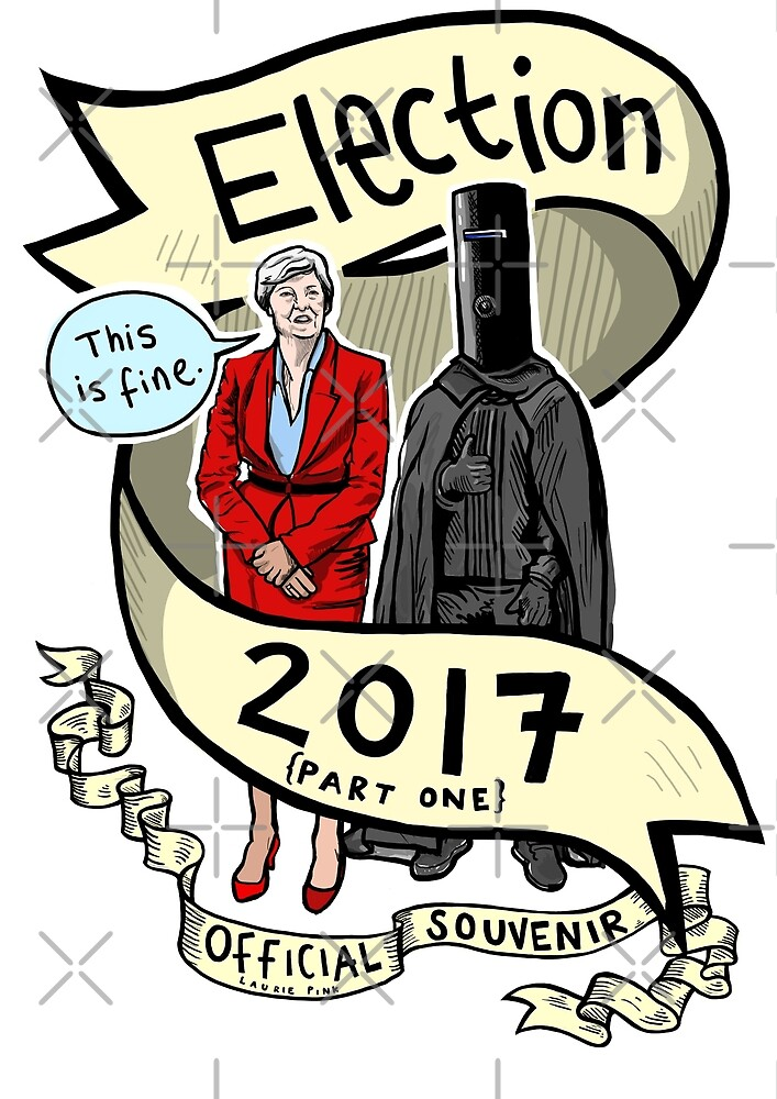 The 2017 General Election (prt 1) Official Laurie Pink Souvenir Tee/print/sticker/clock by lauriepink