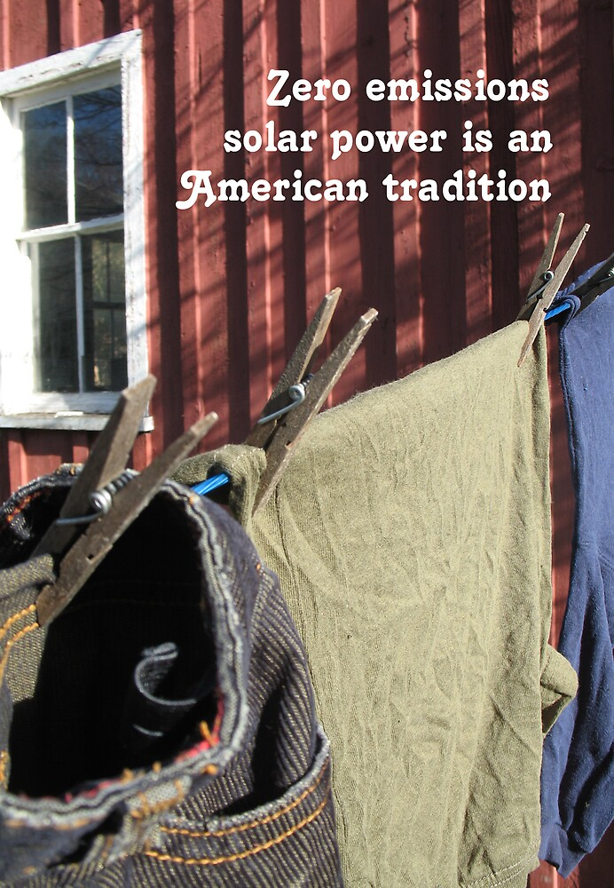 The Clothesline Tradition Of Zero Emissions Solar Power by irregulargoods