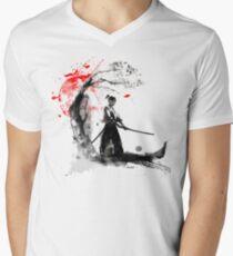 Japanese Samurai Men's V-Neck T-Shirt