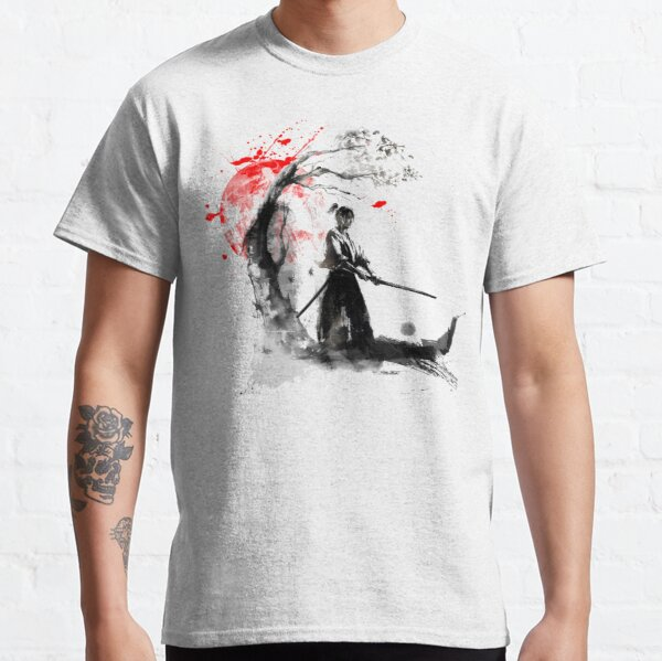 Samurai japonés Camiseta clásica