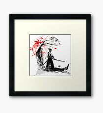 Japanische Samurai Gerahmter Kunstdruck