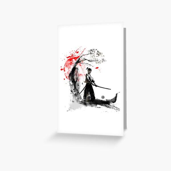 Japanese Samurai Greeting Card