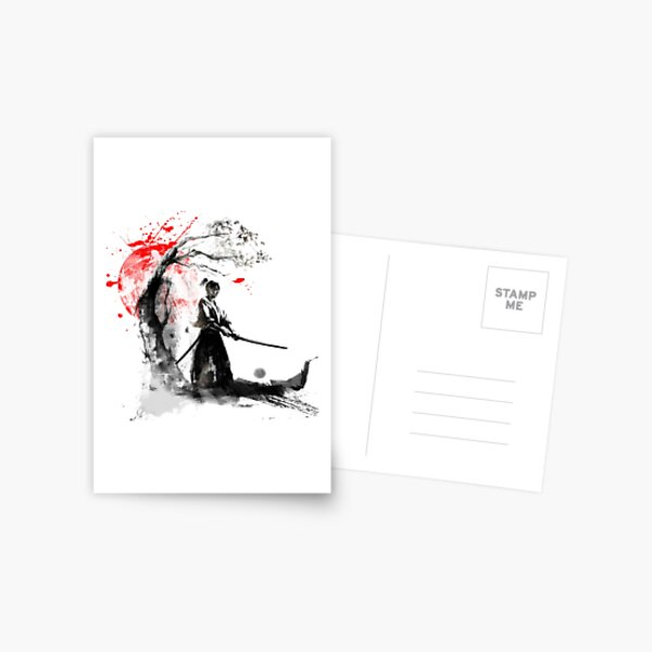 Japanese Samurai Postcard