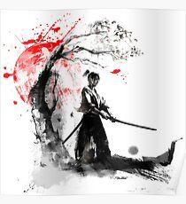 Japanische Samurai Poster