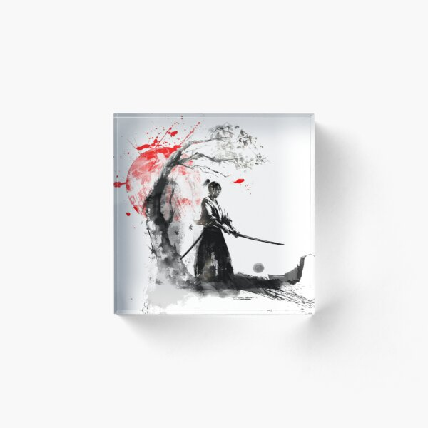 Japanese Samurai Acrylic Block