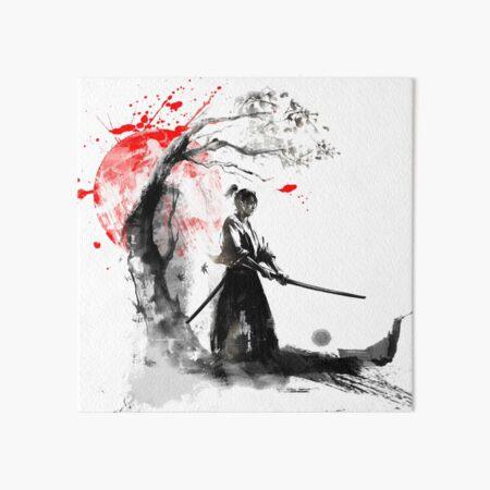 Japanese Samurai Art Board Print