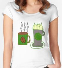 Green coffee  Women's Fitted Scoop T-Shirt
