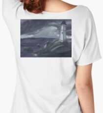 Lighthouse on a Stormy Sea Women's Relaxed Fit T-Shirt