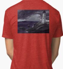 Lighthouse on a Stormy Sea Tri-blend T-Shirt