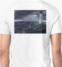 Lighthouse on a Stormy Sea Unisex T-Shirt