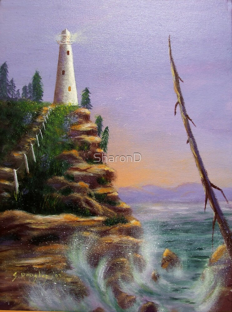 Lighthouse 2 - Painting by SharonD