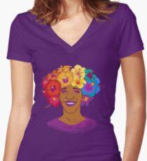 Marsha Johnson - Held und Ikone Tailliertes T-Shirt mit V-Ausschnitt