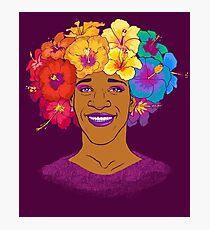 Lámina fotográfica Marsha Johnson - Héroe e icono