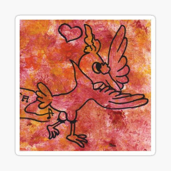 Dancing bird by Laila Cichos Sticker