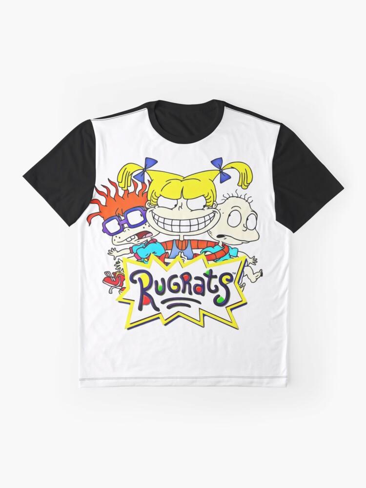 Alternative Ansicht von Die Rugrats, Tommy, Chuckie und Angelica Grafik T-Shirt