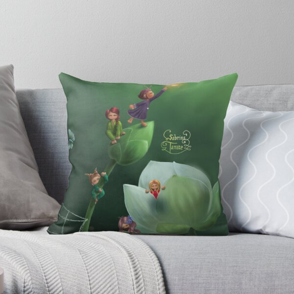 White flowers Coussin