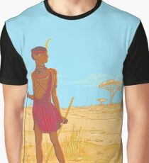 Masai in traditional clothes Graphic T-Shirt