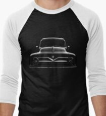ford f100, black shirt Men's Baseball ¾ T-Shirt