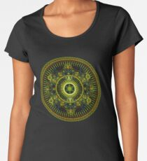 Metatron's Magick Wheel ~ Sacred Geometry Women's Premium T-Shirt