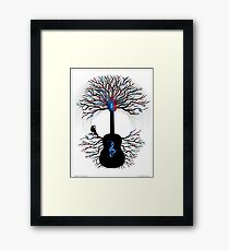 Rhythms of the Heart ~ Surreal Guitar Framed Print