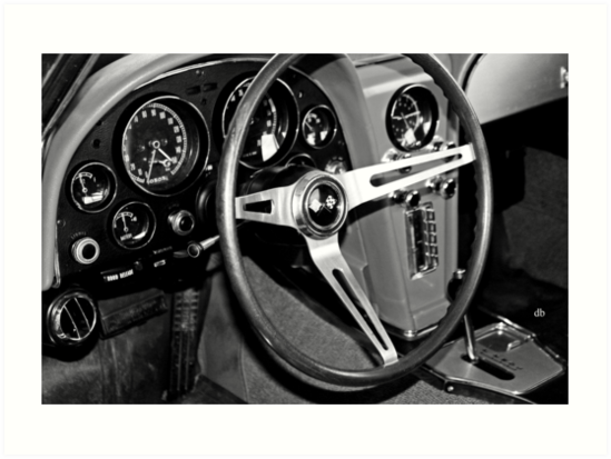 cockpit of a 64 vet in BW by daniels