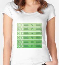 business template with six steps Women's Fitted Scoop T-Shirt