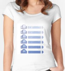 business template with six options Women's Fitted Scoop T-Shirt