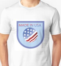 made in USA label Unisex T-Shirt