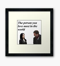 Joan and Sherlock Framed Print