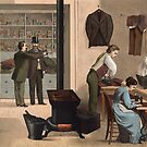 People Working in a Tailor Shop by Vintage Works
