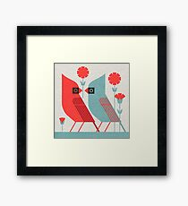 Cardinals and Carnations  Framed Print
