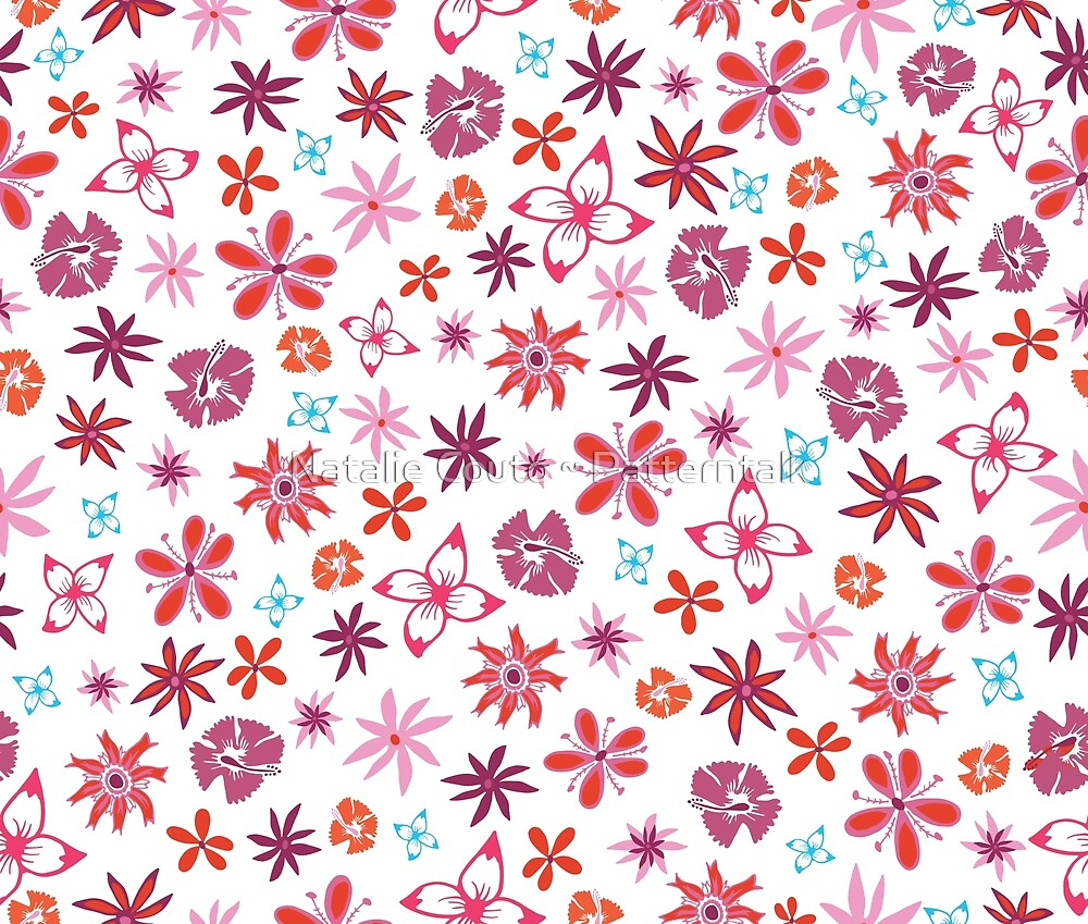 Tropical Confetti - White by Natalie Couto ~ Patterntalk