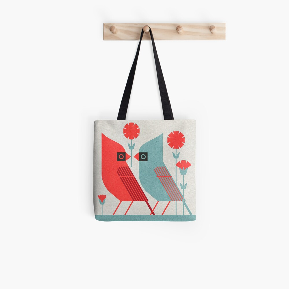 Cardinals and Carnations  Tote Bag