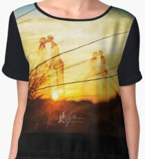 Love forever at the rising sun Chiffon Top