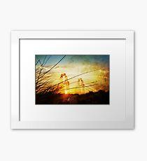 Love forever au soleil levant Framed Print