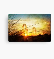 Love forever at the rising sun Canvas Print