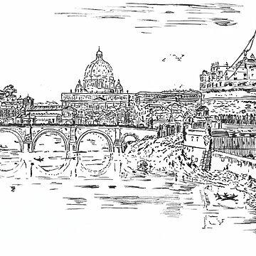 Castel Sant'Angelo Piranesi Redraw by stoopidstu