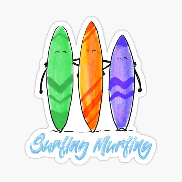 Surfing Murfing Sticker