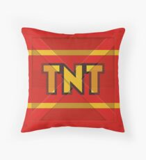 TNT crate Throw Pillow