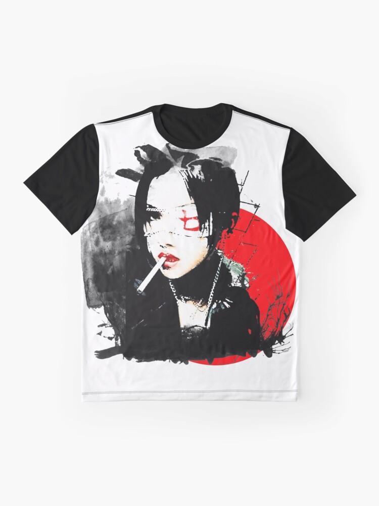 Alternative Ansicht von Japanisches Punkmädchen Grafik T-Shirt