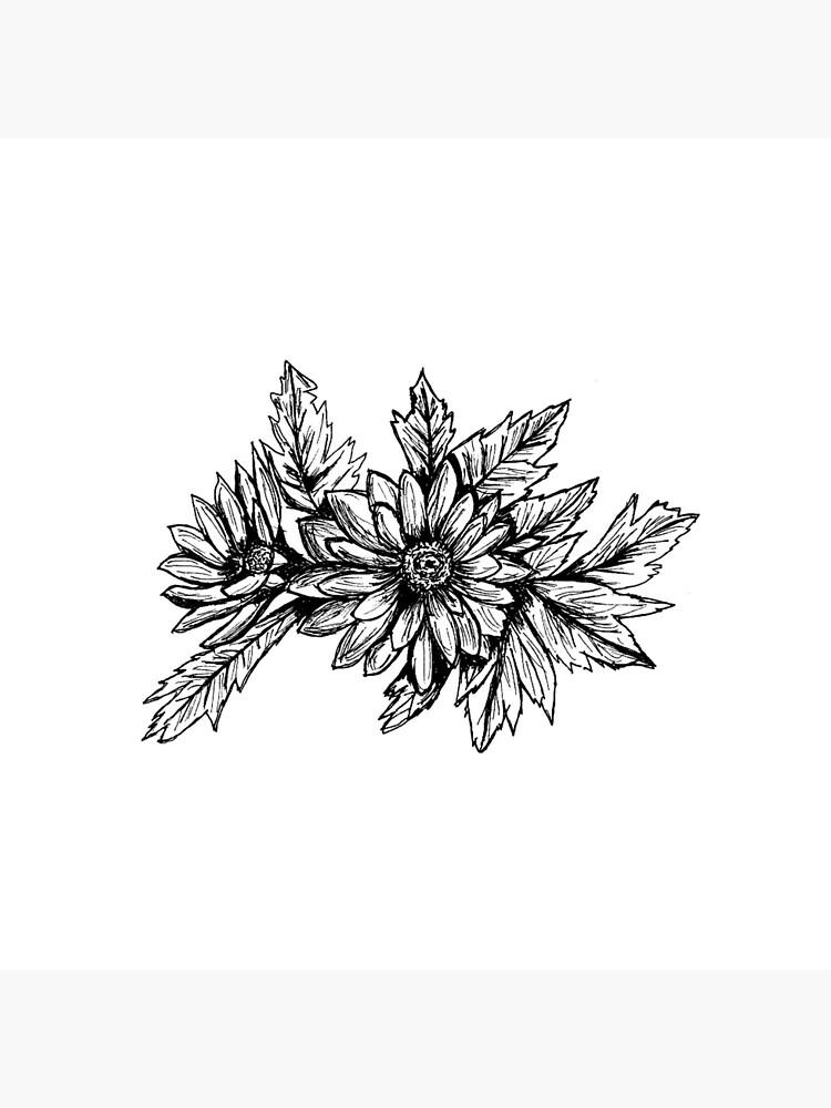 Pen and Ink Chrysanthemum by irenebernhardt