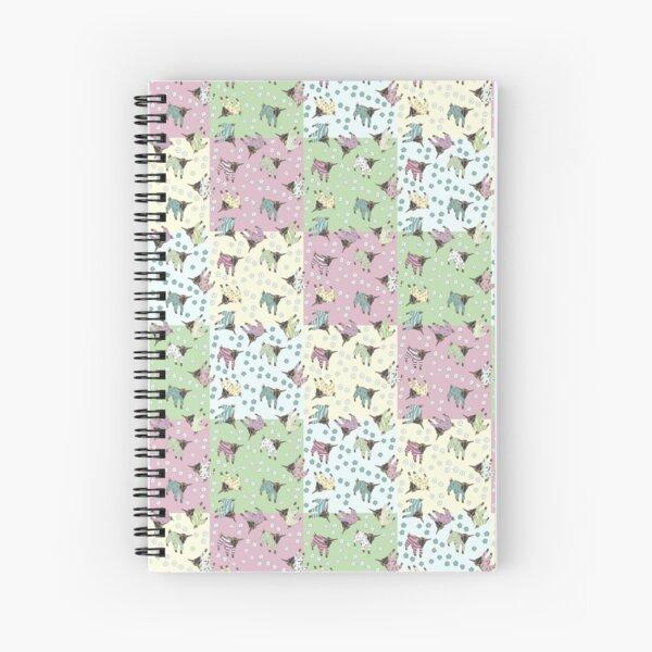 Pajama'd Baby Goats - Patchwork Spiral Notebook