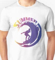 Summer Beach Surf Design T-Shirt